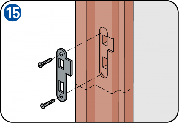 how to make plate for automatic doors